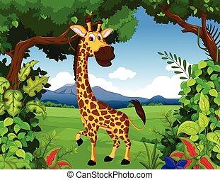 Marrone vitello macchie carino poco mucca carattere - Cartone animato giraffe immagini ...