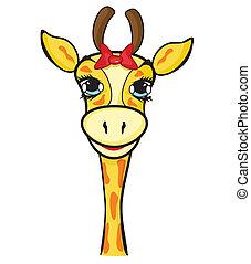 Colorato illustrazione giraffa vettore cartone animato - Cartone animato giraffe immagini ...