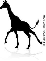 Giraffe Animal Silhouette - A high quality giraffe animal...