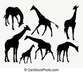 Giraffe animal silhouettes
