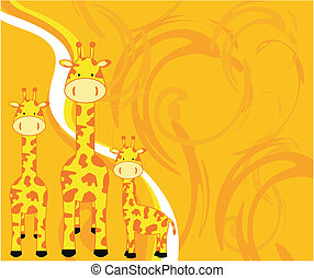 giraffe background1 - giraffe background in vector format