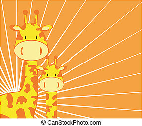giraffe background in vector format