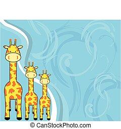 giraffe background2 - giraffe background in vector format