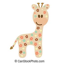 Stile infantile cartone animato giraffa bambino naif - Cartone animato giraffe immagini ...