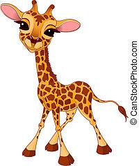 Giraffe Calf - Illustration of little funny giraffe Calf