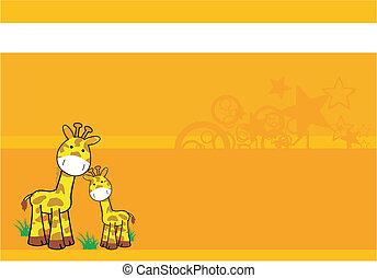 giraffe cartoon background 07 - giraffe cartoon background...