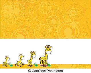 giraffe cartoon background2 - giraffe cartoon background in...