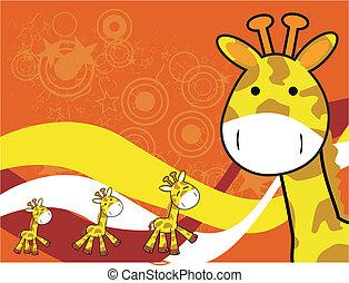 giraffe cartoon background5 - giraffe cartoon background in...