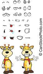 giraffe cartoon expressions set11 - giraffe cartoon...