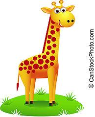 Vector illustration of cute giraffe cartoon