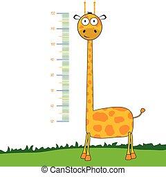giraffe cartoon vector meter illustration