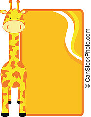 giraffe copyspace in vector format