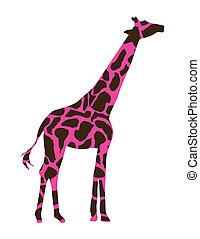 giraffe design over white background vector illustration
