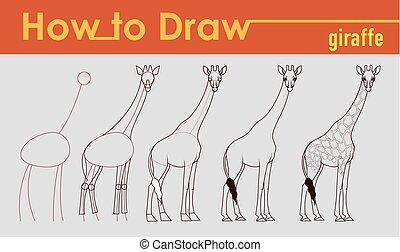 Giraffe draw tutorial