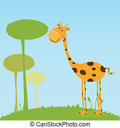 giraffe on special background
