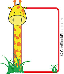 giraffe family copyspace in vector format