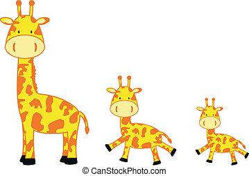 giraffe family5 - giraffe family in vector format
