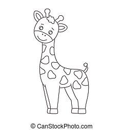 Giraffe for coloring book.
