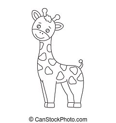 Giraffe for coloring book.