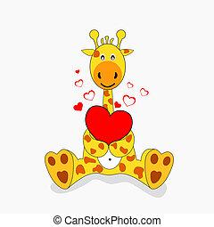 Giraffe - giraffe in love