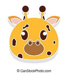 Giraffe head cartoon