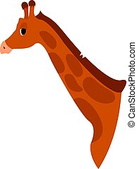Giraffe head, illustration, vector on white background.
