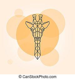 Giraffe head silhouette