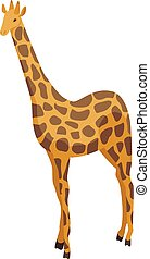 giraffe, ikone, isometrisch, stil