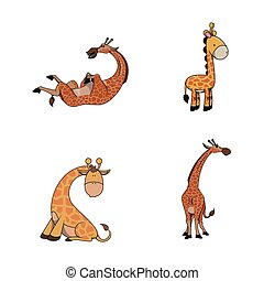 giraffe illustration design