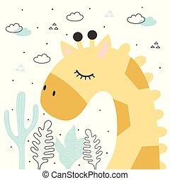 giraffe illustration vector