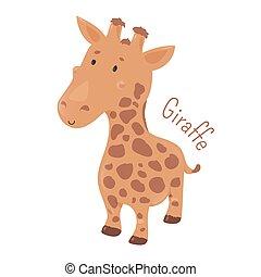 Giraffe isolated. Child fun icon. - Giraffe isolated....