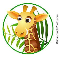 giraffe, karikatur