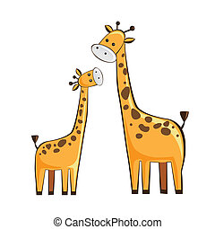 giraffe mother and childgiraffe