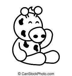giraffe on white background, baby toys