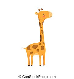 Giraffe Realistic Childish Illustration