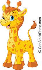 giraffe, schattig
