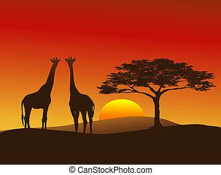 Giraffe Silhouette 2