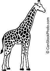 Giraffe silhouette with pattern