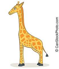 giraffe, spotprent