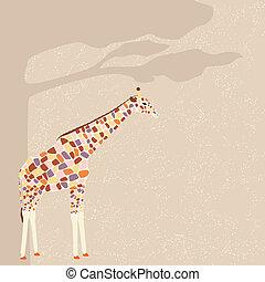 Giraffe vector card