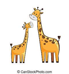giraffe mother and childgiraffe
