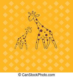 giraffe .  Vector illustration