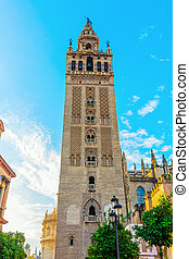 Giralda tower in Seville, Spain