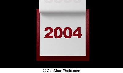 giramento, pagine, in, annualmente, calendario, wi