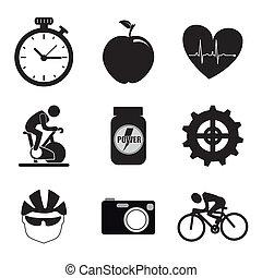 girar, iconos