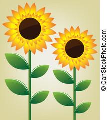 girasol, ilustración