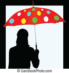 Parapluie fille nue