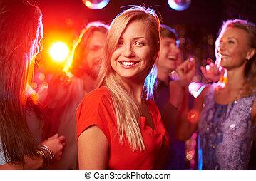 girl, à, fête