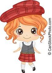 girl, écossais