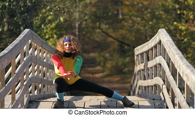 girl, étirage exercice